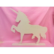 6mm MDF Large  Standing Unicorn